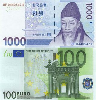 Калькулятор курса корейского вона к евро