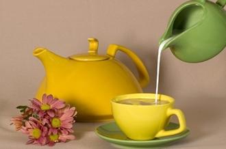Сколько калорий в зеленом чае с молоком